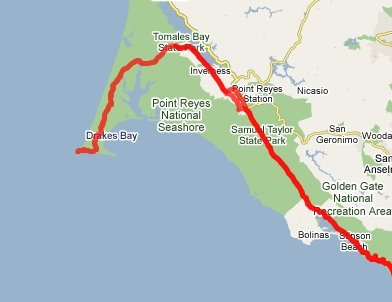 Point Reyes map