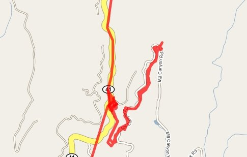 Yosemite Sugarpine RR map